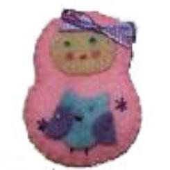 BOWtique Felt Babushka Hair Clip - Pink