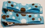 BOWtique Alligator Clips - Blue Spots & Bows