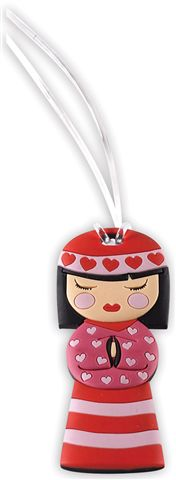 Bobble Art Luggage Baggage Tag - Japanese Doll