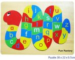 Fun Factory Educational Wooden Puzzle Alphabet Snake