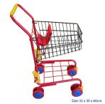 Children's Metal Frame Shopping Trolley Red