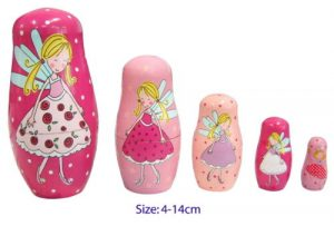 Fun Factory Wooden Fairy Nesting Russian Dolls 5pc