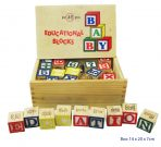 Educational Wooden Blocks - Alphabet & Numbers 48pc