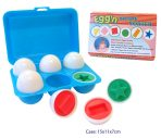 Toy Eggs Shape Sorter in Plastic Case - Set 6
