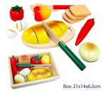 Fun Factory Wooden Picnic Food Box - Inc Bread, Fruit, Veges