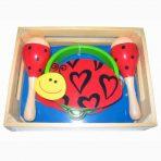 Kaper Kidz Wooden Tambourine & Maraca Set  - Ladybird