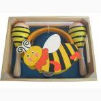 Kaper Kidz Wooden Tambourine & Maraca Set  - Bumble Bee