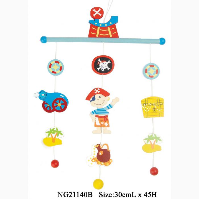 Kaper Kidz Wooden Pirate Baby Mobile