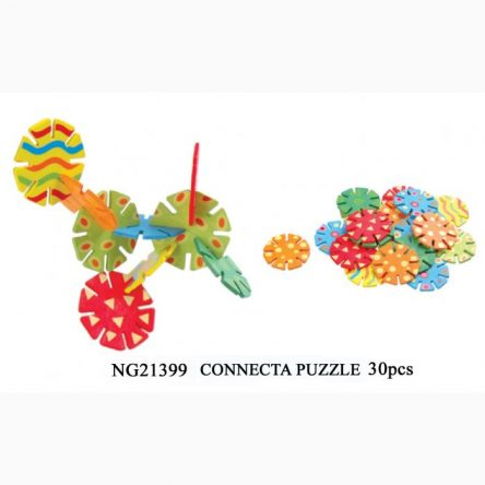 Kaper Kidz Wooden Connectagons Connecta Puzzle - 30 pce