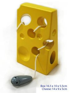 Fun Factory Educational Wooden Lacing Cheese with Mouse