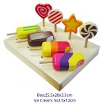 Fun Factory Wooden Ice Blocks and Lollipops Set 8pc