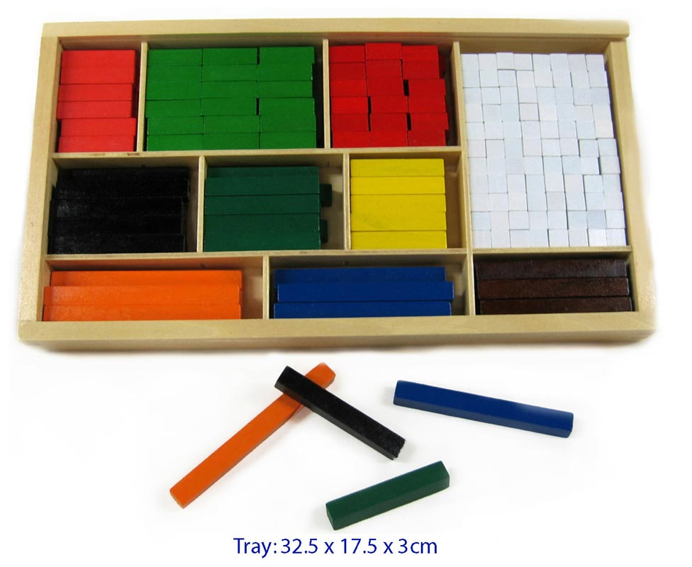 Fun Factory Wooden Cuisenaire Rods - 308pc Set
