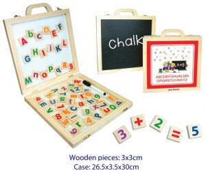 Fun Factory Wooden Magnetic Activity Case - Alphabet & Numbers