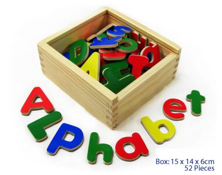 Fun Factory Wooden Magnetic Letters - Alphabet 52 Pc