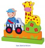 Fun Factory Wooden Magnetic Vertical Puzzle - 10pc - Zoo