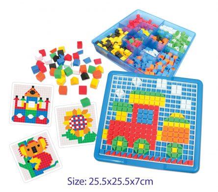 Hana Educational Geometric Pattern Play Set - 490pc