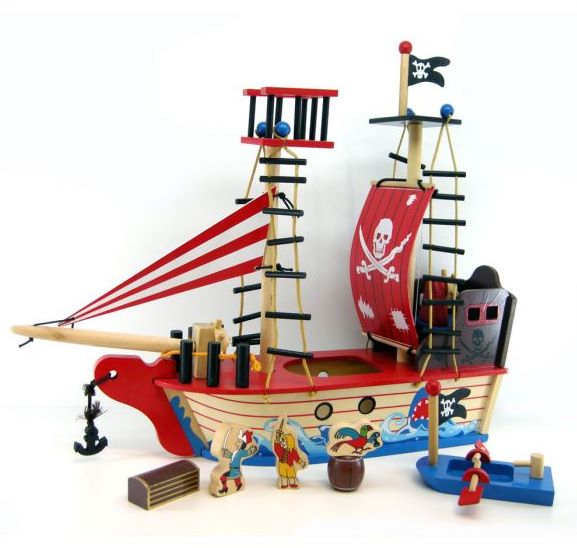 Kaper Kidz Wooden Pirate Ship With Accessories Baby Vegas