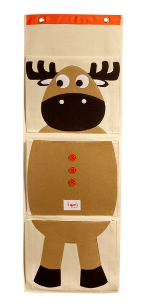 3 Sprouts Organic Wall Organiser - Moose