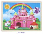 Fun Factory Educational Wooden Puzzle Fairy Princess Castle 48pc