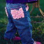 RuffleButts Denim Jeans - Pink Ruffle