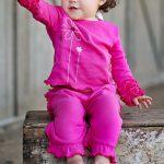 RuffleButts Knit Crawler Pants - Fuchsia