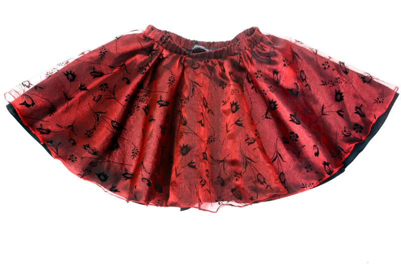 Hullubullu Organza Skirt Red