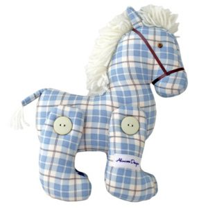Alimrose Designs Jointed Toy Pony - Blue Plaid