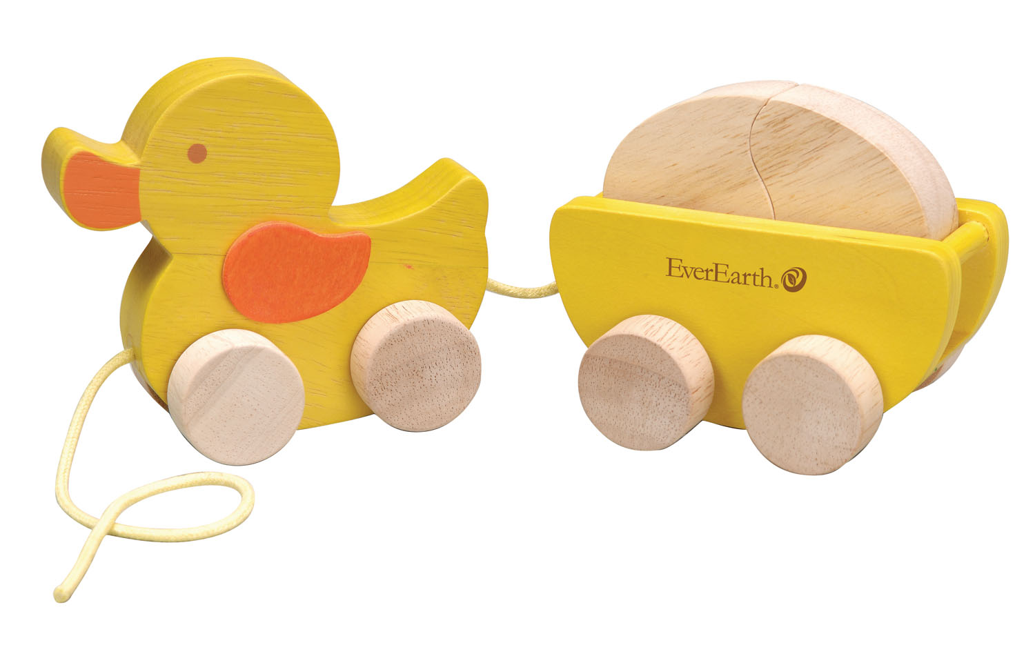 EverEarth Wooden Pull Along Duck & Egg