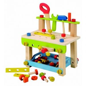 EverEarth Wooden Workbench with Tools and Accessories