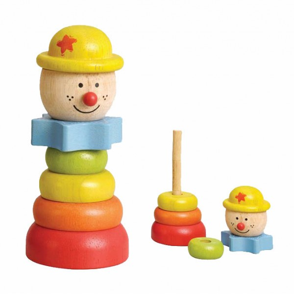 EverEarth Wooden Stacking Clown with Yellow Hat