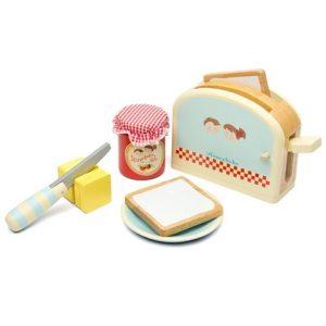 Le Toy Van Honeybake Wooden Toaster Breakfast Set