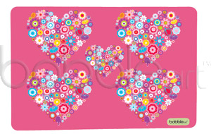 Bobble Art Placemat - Pink Heart