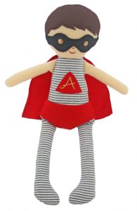 Alimrose Designs Soft Doll - Rattle - Super Hero Doll 28cm