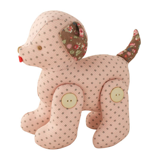 Alimrose Designs Jointed Toy Puppy - Pink Cinnamon