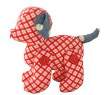 Alimrose Designs Jointed Toy Puppy - Red Plaid