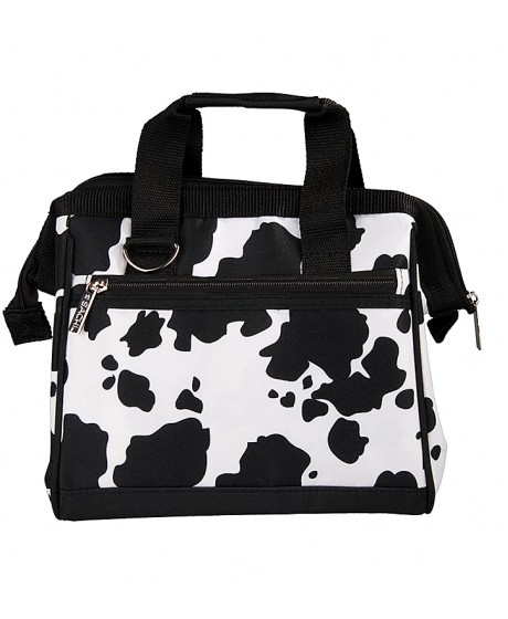 Sachi Insulated Lunch Tote Bag Cow Print
