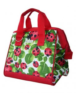 Sachi Insulated Lunch Tote Bag - Ladybug Print