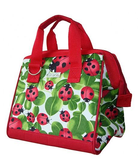 Sachi Insulated Lunch Tote Bag - Ladybug Print