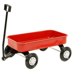 Little Blokes Red Metal Pull Along Wagon