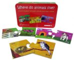 The Purple Cow - Matching Game Puzzle - Where do animals live?