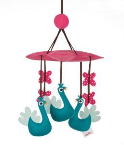 3 Sprouts Baby Mobile - Peacock