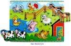 FunFactory Educational Wooden Peg Puzzle Farm House