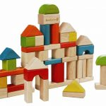 EverEarth Wooden Builing Blocks Set in Sorter Bucket 50pc