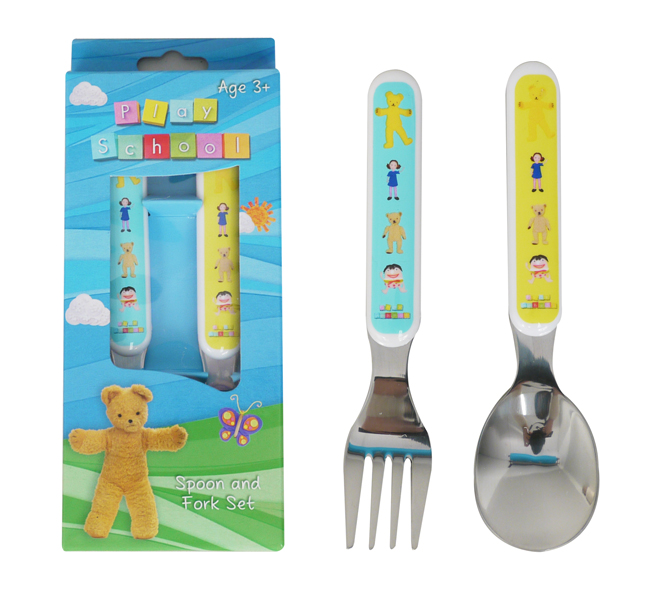 ABC TV Play School Fork & Spoon Cutlery Set