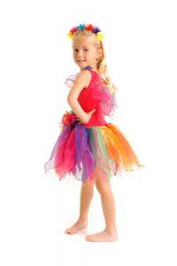 Fairy Girls Pixie Fairy Dress - Rainbow