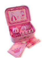 'Pink Princess' Tin Tea Set in Case 20pc