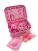 'Pink Princess' Tin Tea Set in Case 20pc
