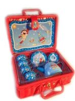 'Rocket Man' Tin Tea Set in Basket 15pc