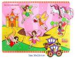 Children's Educational Wooden Peg Puzzle - Fairy