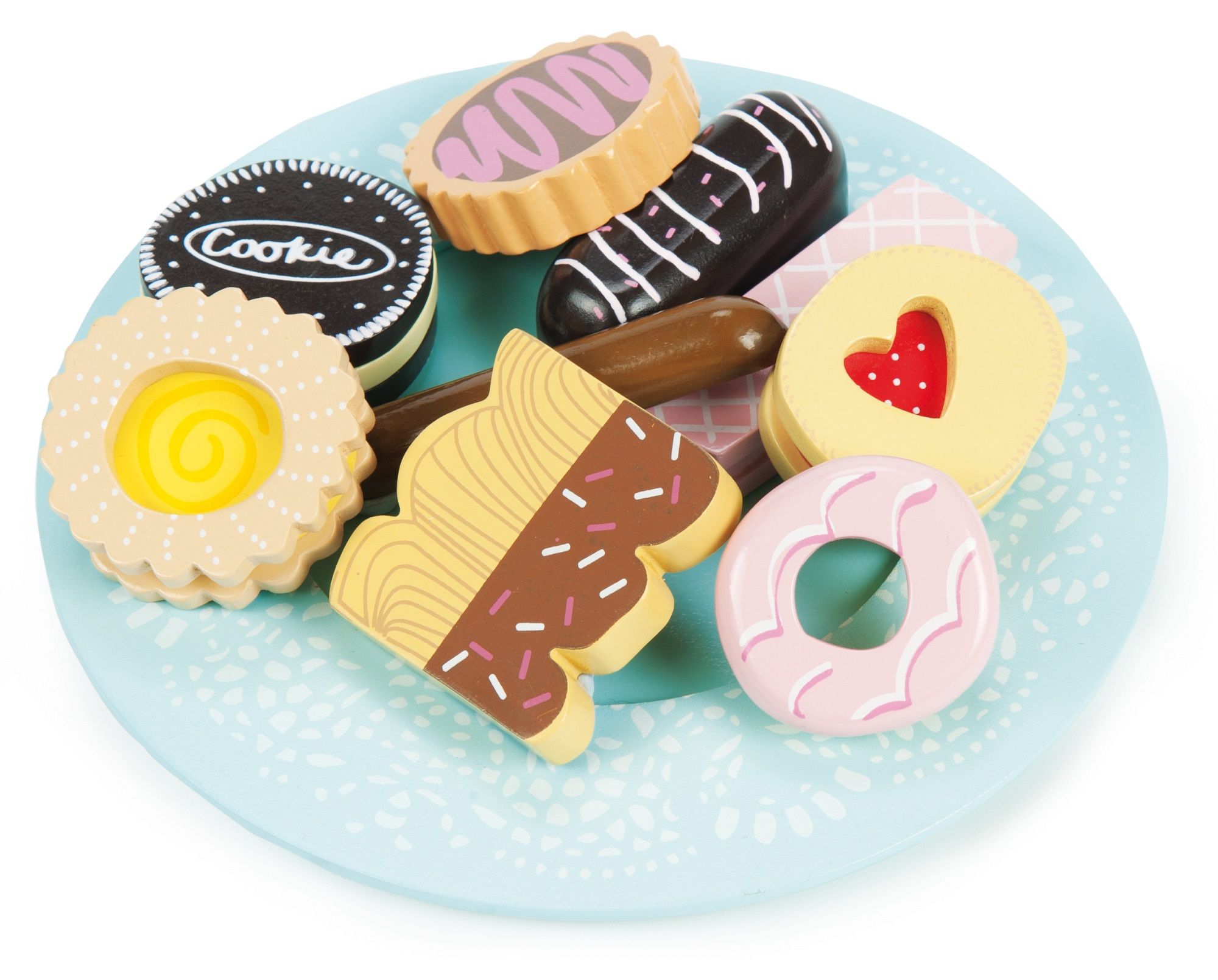 Le Toy Van Honeybake Wooden Biscuit & Plate Set